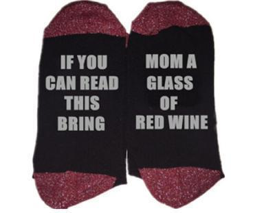 Custom wine socks If You can read this Bring Me a Glass of Wine Socks autumn spring fall 2017 new arrival-12-JadeMoghul Inc.