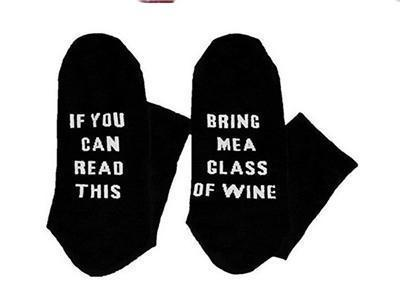 Custom wine socks If You can read this Bring Me a Glass of Wine Socks autumn spring fall 2017 new arrival-13-JadeMoghul Inc.