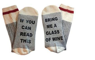 Custom wine socks If You can read this Bring Me a Glass of Wine Socks autumn spring fall 2017 new arrival-14-JadeMoghul Inc.