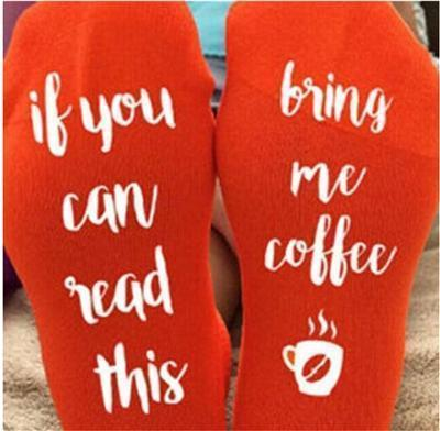 Custom wine socks If You can read this Bring Me a Glass of Wine Socks autumn spring fall 2017 new arrival-5-JadeMoghul Inc.