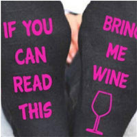 Custom wine socks If You can read this Bring Me a Glass of Wine Socks autumn spring fall 2017 new arrival-6-JadeMoghul Inc.