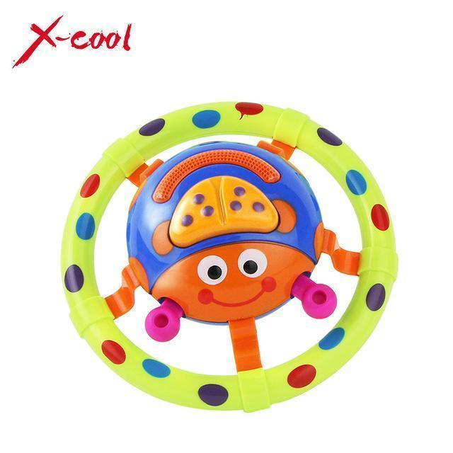 cute baby toys with sound and light / ladybug baby toy / children musical toys / grasping toy as a gift for little kids 6613-5-Green-JadeMoghul Inc.