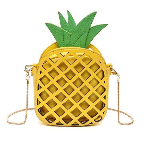 Cute Pineapple Cross Body Bag-black-14x16x7cm-JadeMoghul Inc.