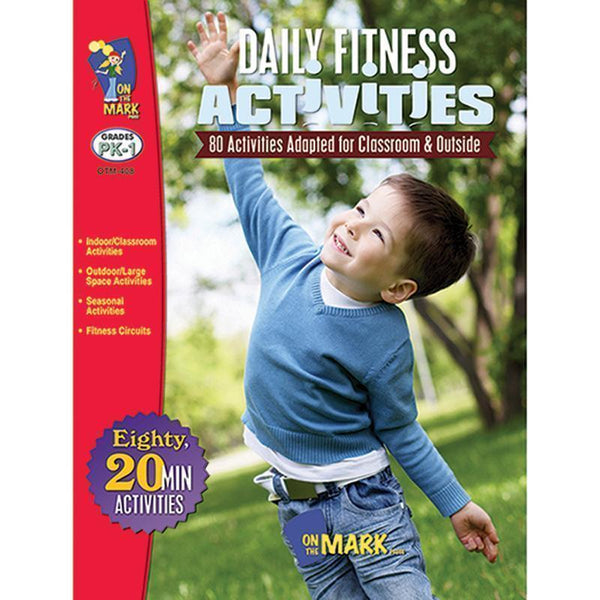 DAILY FITNESS ACTIVITIES GR K-1-Learning Materials-JadeMoghul Inc.