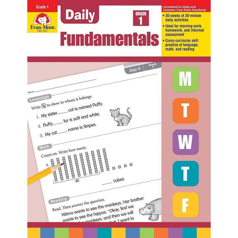 DAILY FUNDAMENTALS GR 1-Learning Materials-JadeMoghul Inc.