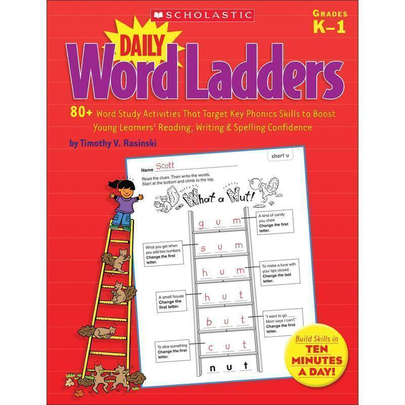 DAILY WORD LADDERS GR K-1-Learning Materials-JadeMoghul Inc.