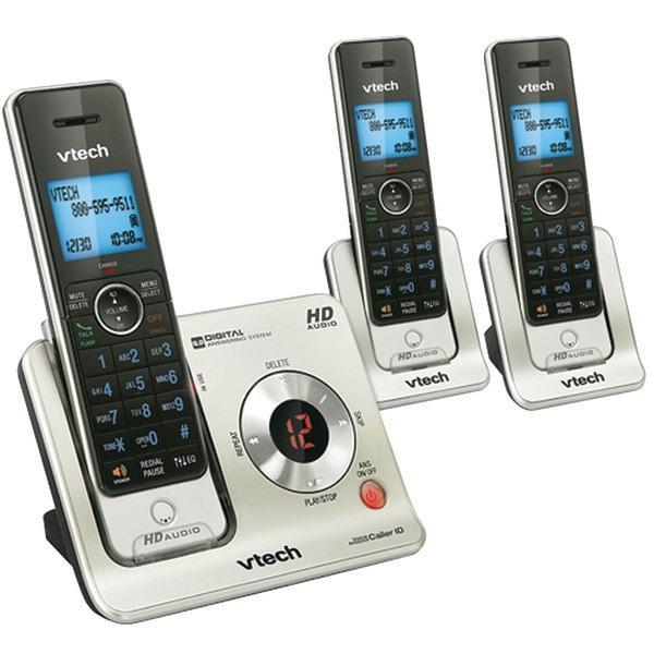 DECT 6.0 3-Handset Answering System with Caller ID/Call Waiting-Cordless Phones-JadeMoghul Inc.