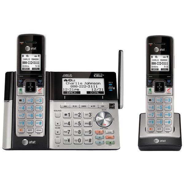 DECT 6.0 Connect-to-Cell(TM) 2-Handset Phone System with Dual Caller ID-Cordless Phones-JadeMoghul Inc.