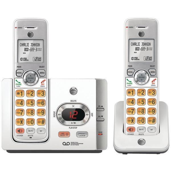 DECT 6.0 Cordless Answering System with Caller ID/Call Waiting (2 Handsets)-Cordless Phones-JadeMoghul Inc.