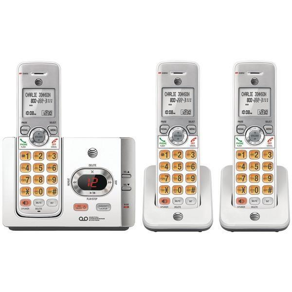DECT 6.0 Cordless Answering System with Caller ID/Call Waiting (3 Handsets)-Cordless Phones-JadeMoghul Inc.