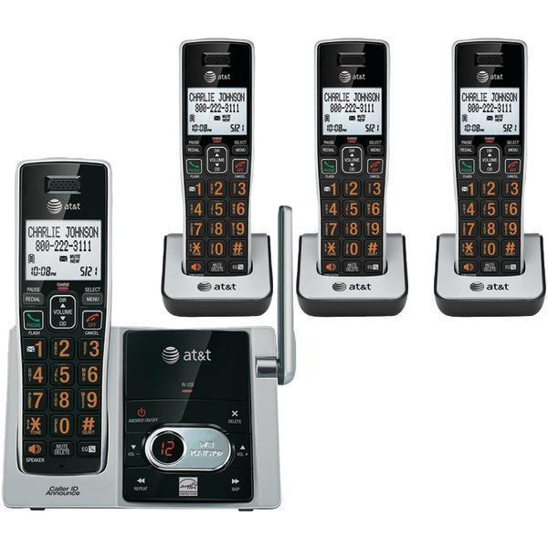 DECT 6.0 Cordless Answering System with Caller ID/Call Waiting (4-handset system)-Cordless Phones-JadeMoghul Inc.
