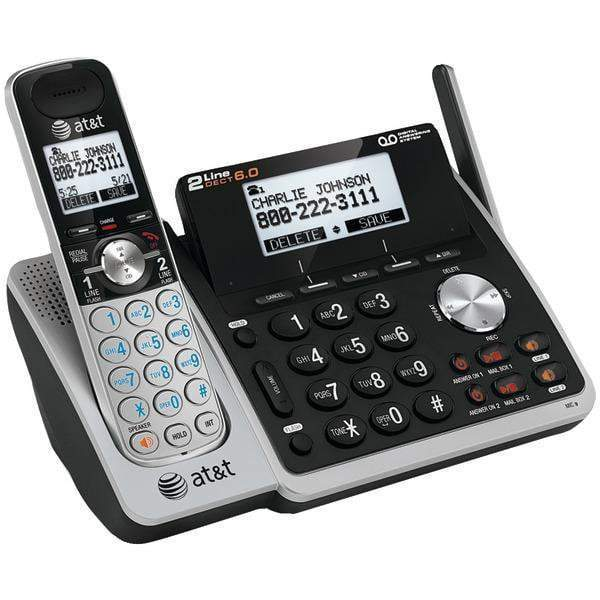 DECT 6.0 Expandable 2-Line Speakerphone with Caller ID-Cordless Phones-JadeMoghul Inc.