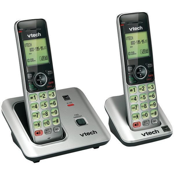 DECT 6.0 Expandable Speakerphone with Caller ID (2-Handset System)-Cordless Phones-JadeMoghul Inc.