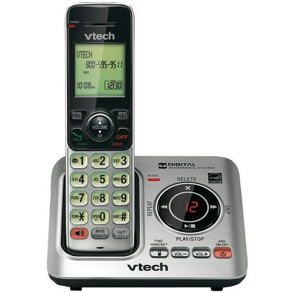 DECT 6.0 Expandable Speakerphone with Caller ID & Call Waiting (Single-Handset System)-Cordless Phones-JadeMoghul Inc.