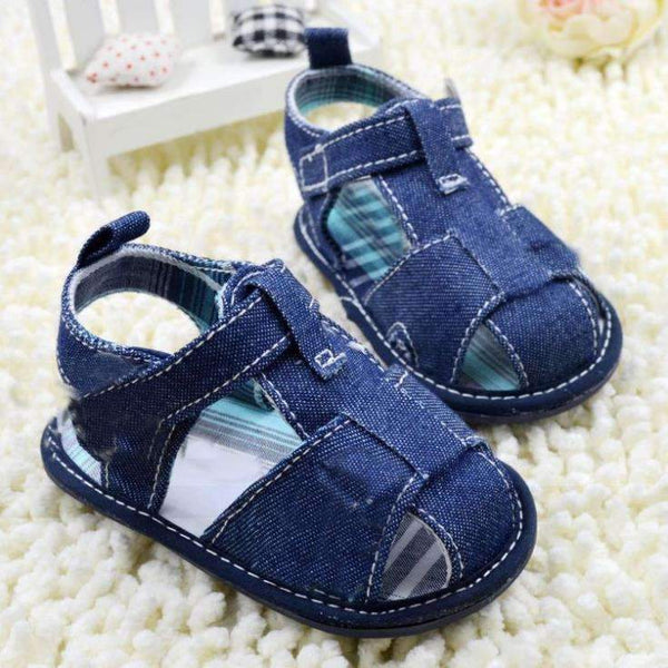 Denim Baby Summer Sandals-Blue-1-JadeMoghul Inc.
