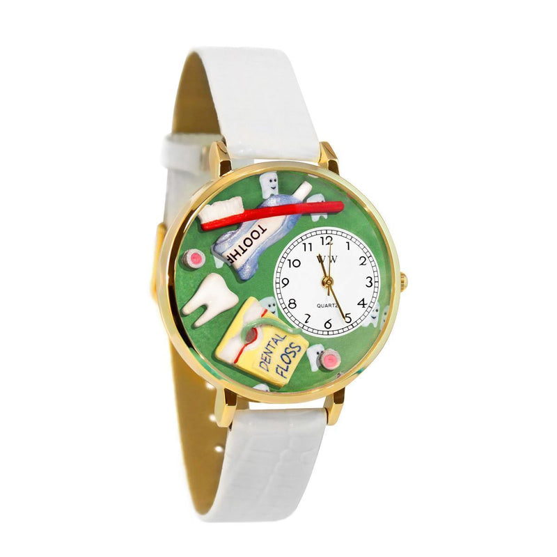 Dental Assistant Watch in Gold (Large)-Watch-JadeMoghul Inc.