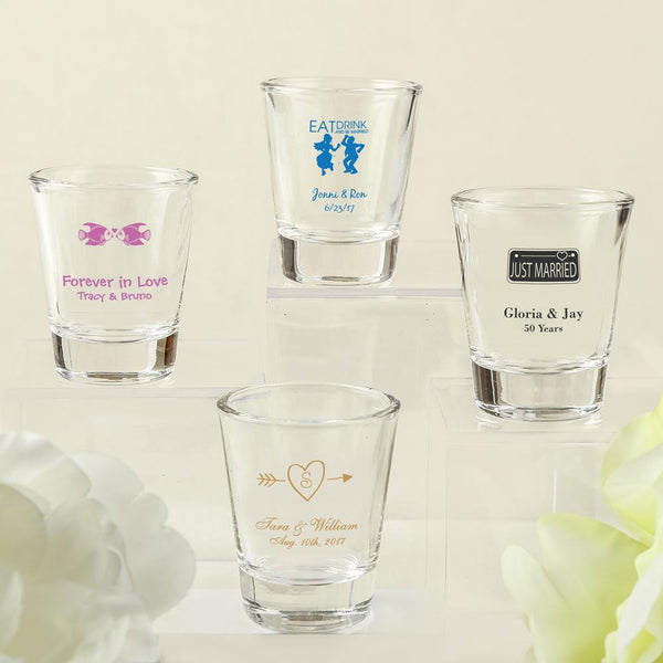 Design your own collection screen printed shot glass from fashioncraft-Favors By Season-JadeMoghul Inc.