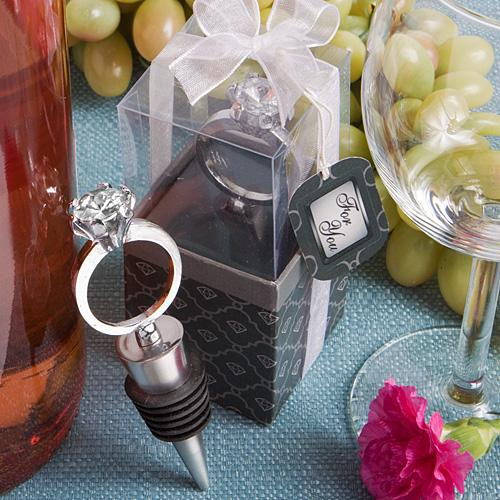 Diamond Ring Wine Bottle Stoppers-Personalized Gifts for Men-JadeMoghul Inc.