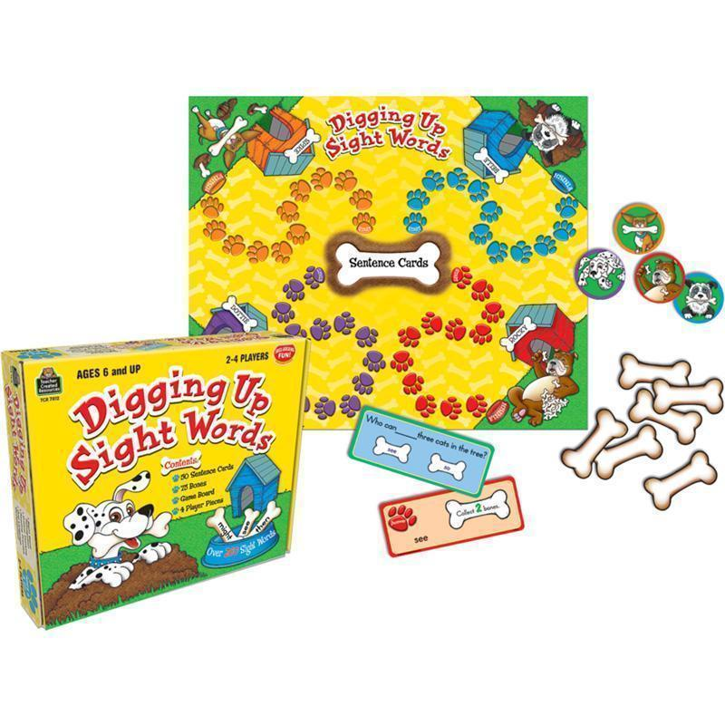 DIGGING UP SIGHT WORDS GAME AGES 6-Learning Materials-JadeMoghul Inc.