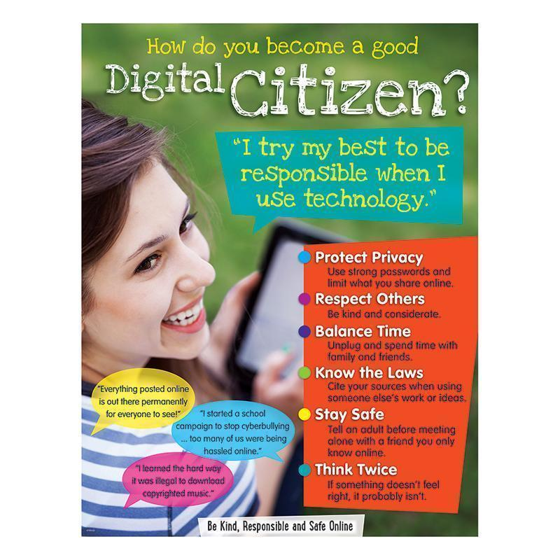 DIGITAL CITIZENSHIP LEARNING CHART-Learning Materials-JadeMoghul Inc.