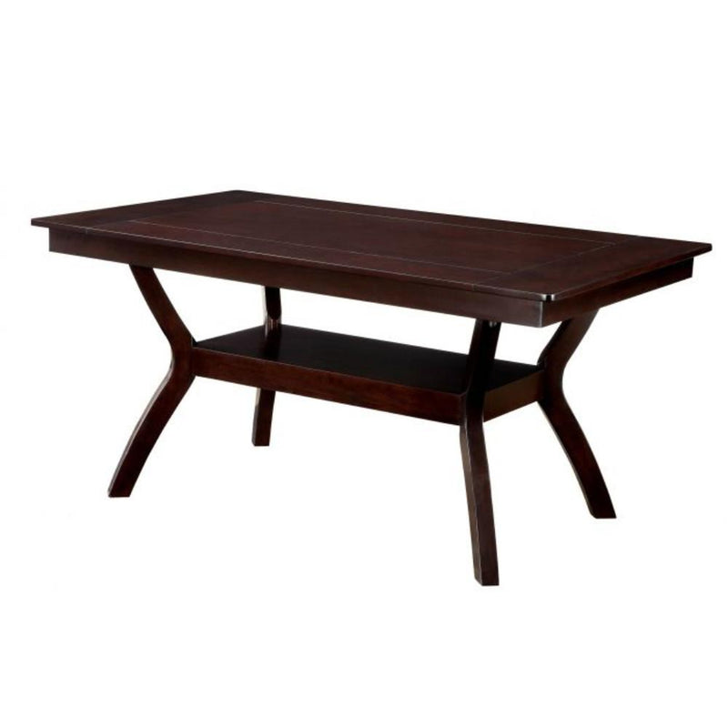 Dining Table, Dark Cherry Brown-Dining Tables-Dark Brown-Wood-JadeMoghul Inc.
