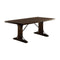 Dining Table, Rustic Walnut Brown-Dining Tables-Brown-Wood Metal-JadeMoghul Inc.