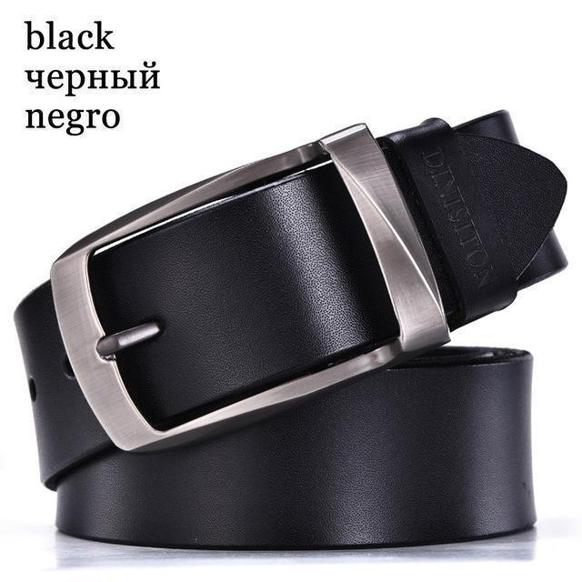 DINISITON designer belts men high quality genuine leather belt man fashion strap male cowhide belts for men jeans cow leather-RB black-100cm-JadeMoghul Inc.