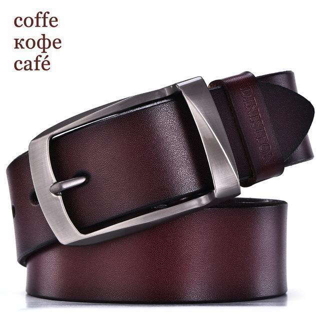 DINISITON designer belts men high quality genuine leather belt man fashion strap male cowhide belts for men jeans cow leather-RB coffe-100cm-JadeMoghul Inc.