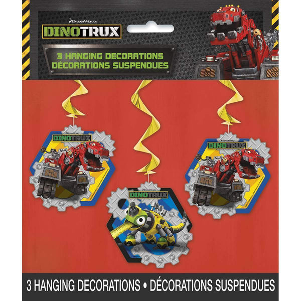 Dinotrux Hanging Swirl Party Decorations [3 per Pack]-Toys-JadeMoghul Inc.