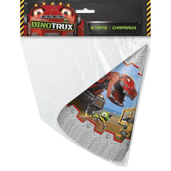 Dinotrux Party Hats [8 per Pack]-Toys-JadeMoghul Inc.