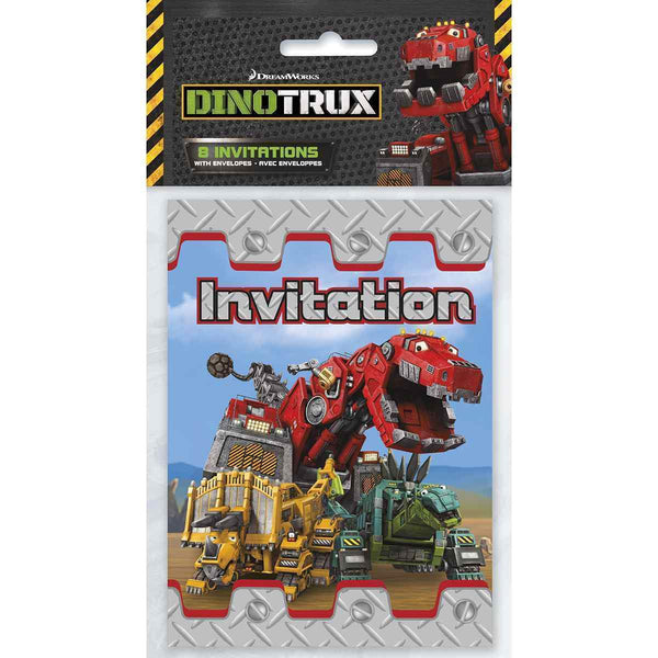 Dinotrux Party Invitations [8 per Pack]-Toys-JadeMoghul Inc.