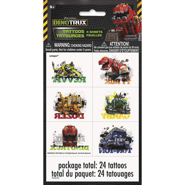 Dinotrux Temporary Tattoo Sheets [4 per Pack]-Toys-JadeMoghul Inc.