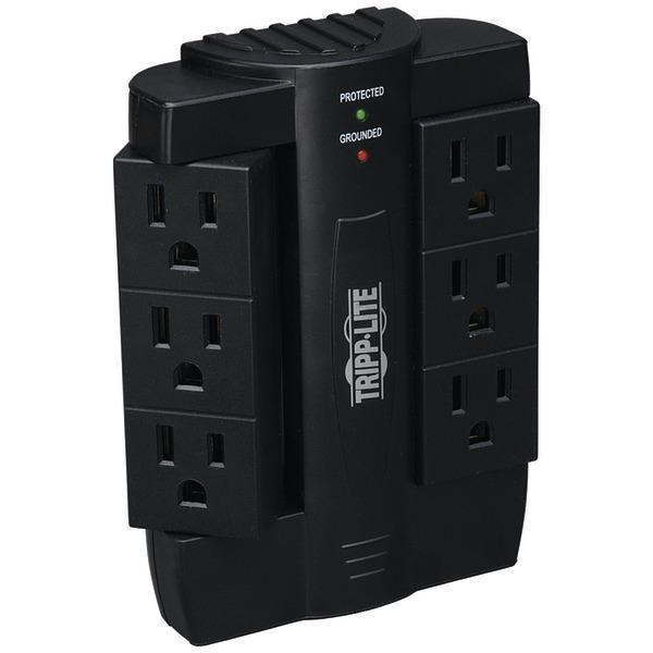 Direct Plug-in Surge Protector with 6 Rotatable Outlets (1,500 Joules)-Surge Protectors-JadeMoghul Inc.