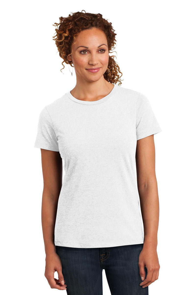 District Made Ladies Perfect Blend Crew Tee. DM108L-T-shirts-White-XS-JadeMoghul Inc.