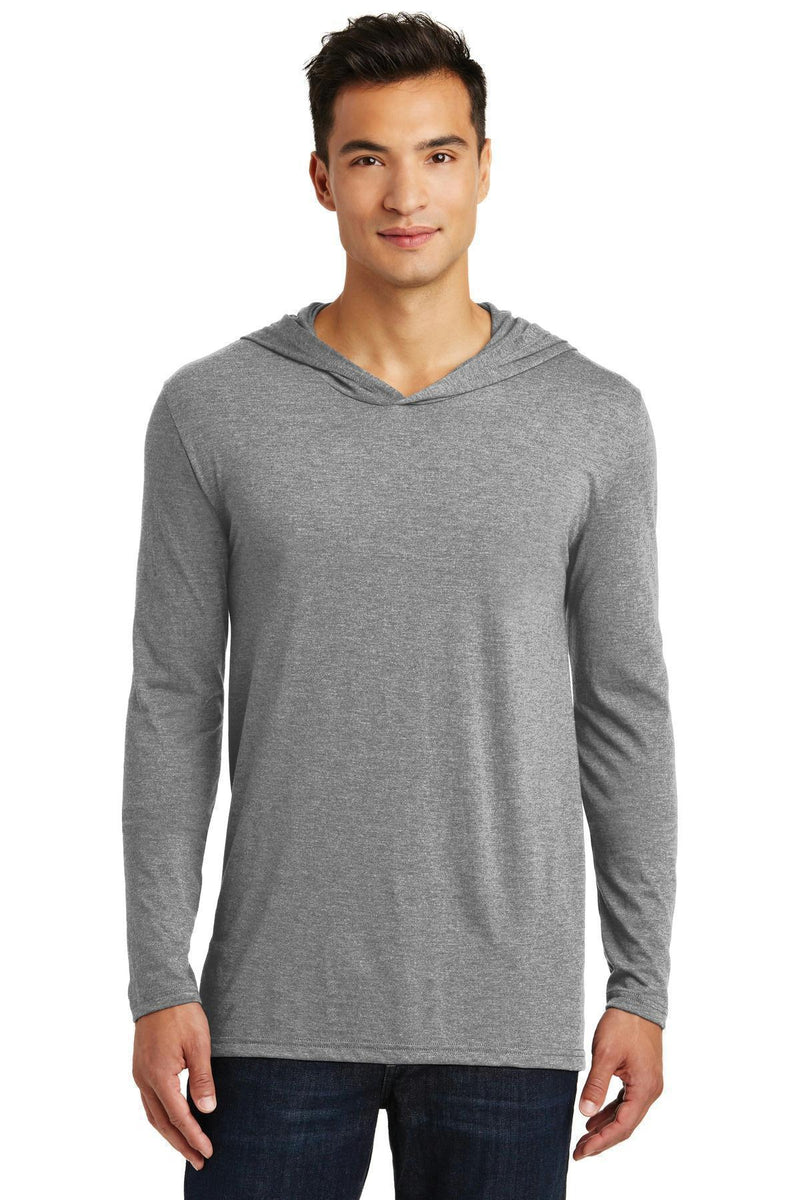 District Made Men's Perfect Tri Long Sleeve Hoodie. DM139-T-shirts-Grey Frost-XL-JadeMoghul Inc.