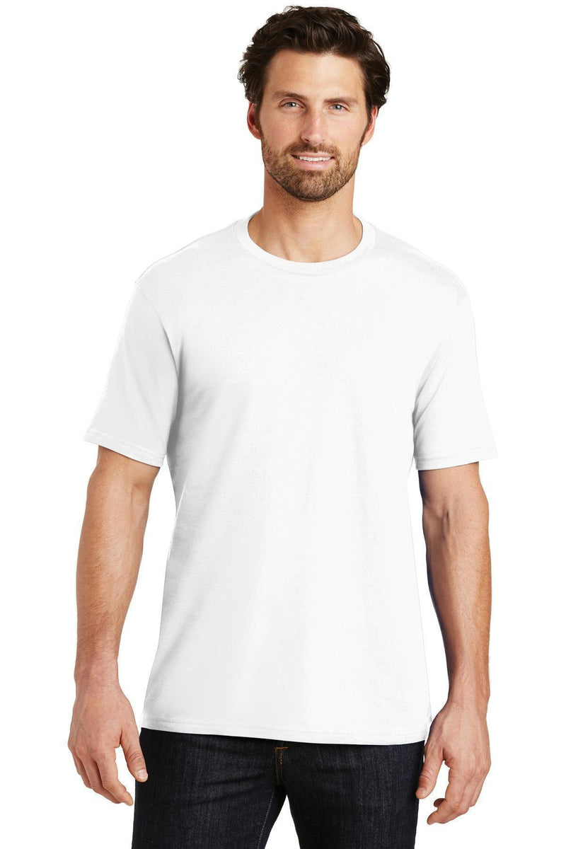 District Made Mens Perfect Weight Crew Tee. DT104-T-shirts-Bright White-S-JadeMoghul Inc.