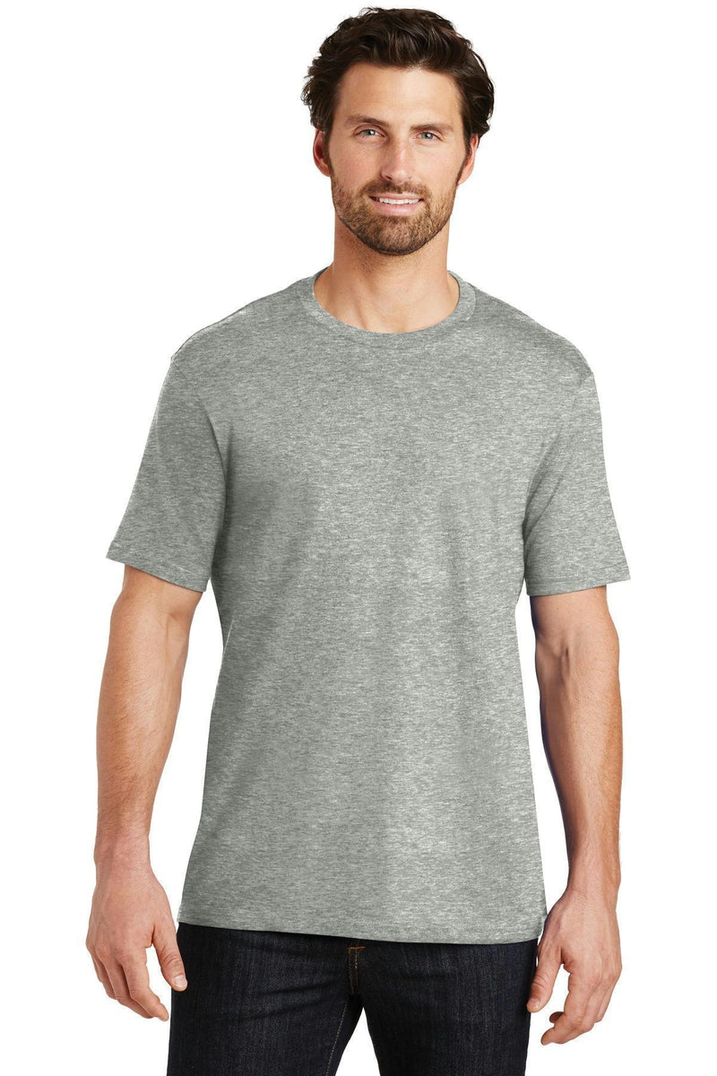 District Made Mens Perfect Weight Crew Tee. DT104-T-shirts-Heathered Steel-XL-JadeMoghul Inc.