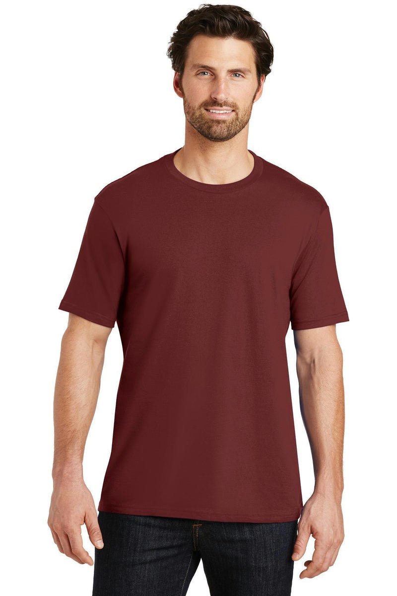 District Made Mens Perfect Weight Crew Tee. DT104-T-shirts-Sangria-S-JadeMoghul Inc.