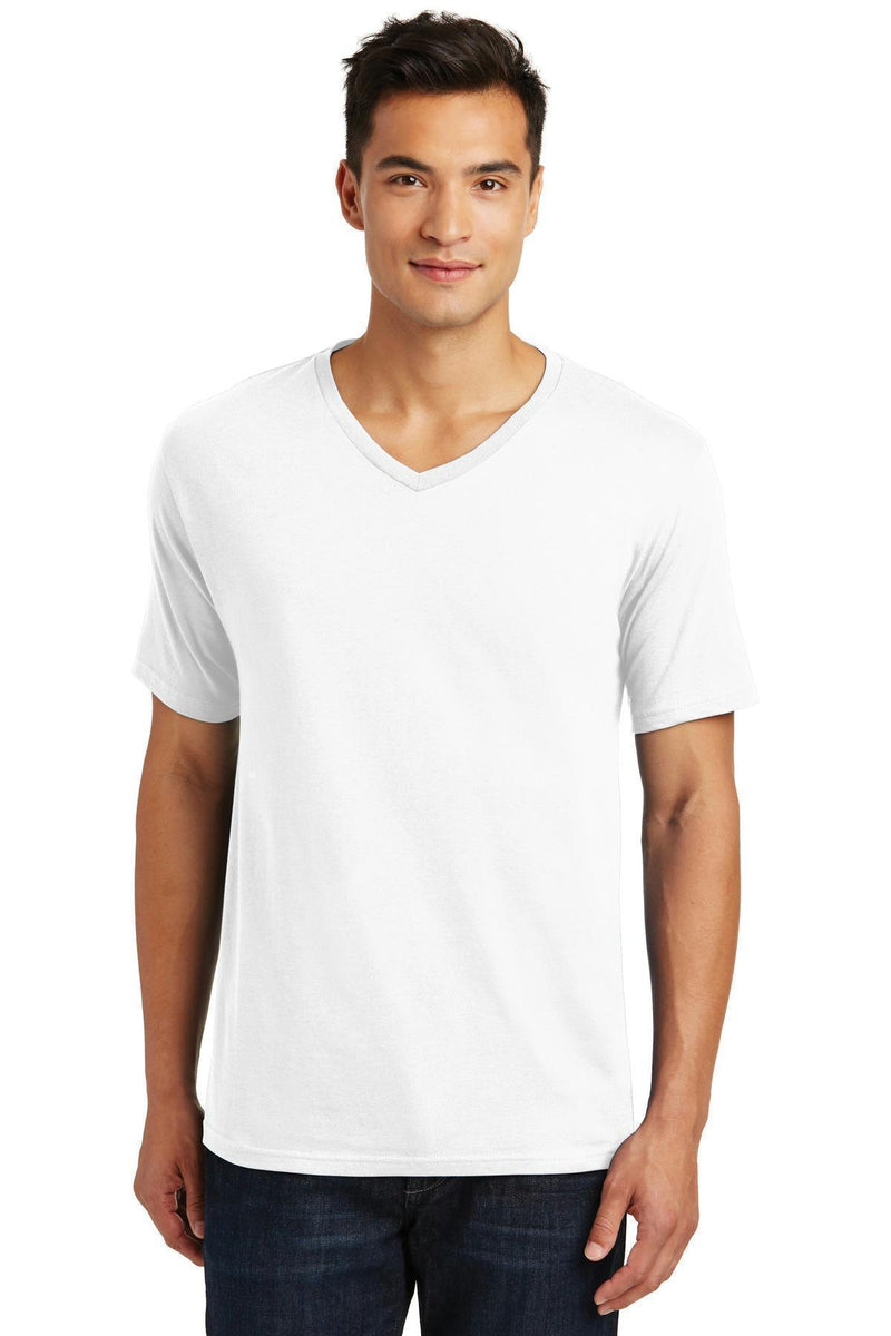 District Made Men's Perfect Weight V-Neck Tee. DT1170-T-shirts-Bright White-4XL-JadeMoghul Inc.