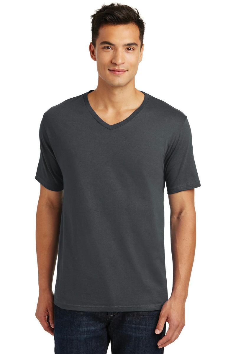 District Made Men's Perfect Weight V-Neck Tee. DT1170-T-shirts-Charcoal-4XL-JadeMoghul Inc.