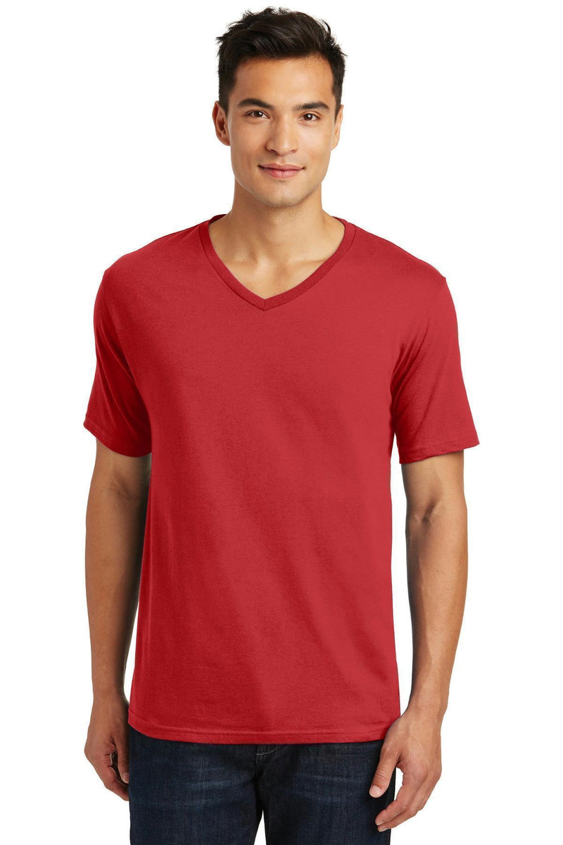 District Made Men's Perfect Weight V-Neck Tee. DT1170-T-shirts-Classic Red-4XL-JadeMoghul Inc.