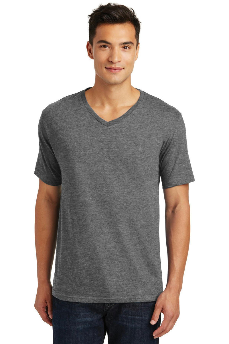 District Made Men's Perfect Weight V-Neck Tee. DT1170-T-shirts-Heathered Nickel-4XL-JadeMoghul Inc.