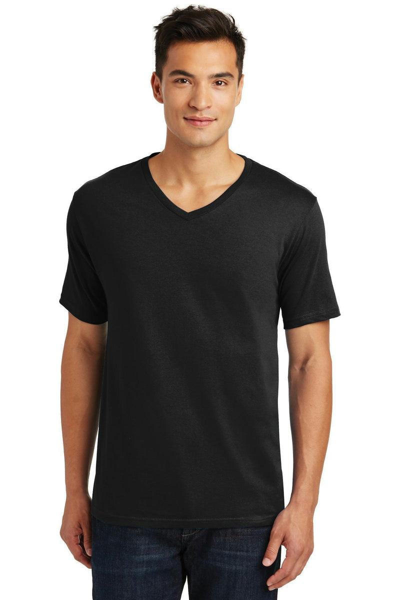 District Made Men's Perfect Weight V-Neck Tee. DT1170-T-shirts-Jet Black-4XL-JadeMoghul Inc.