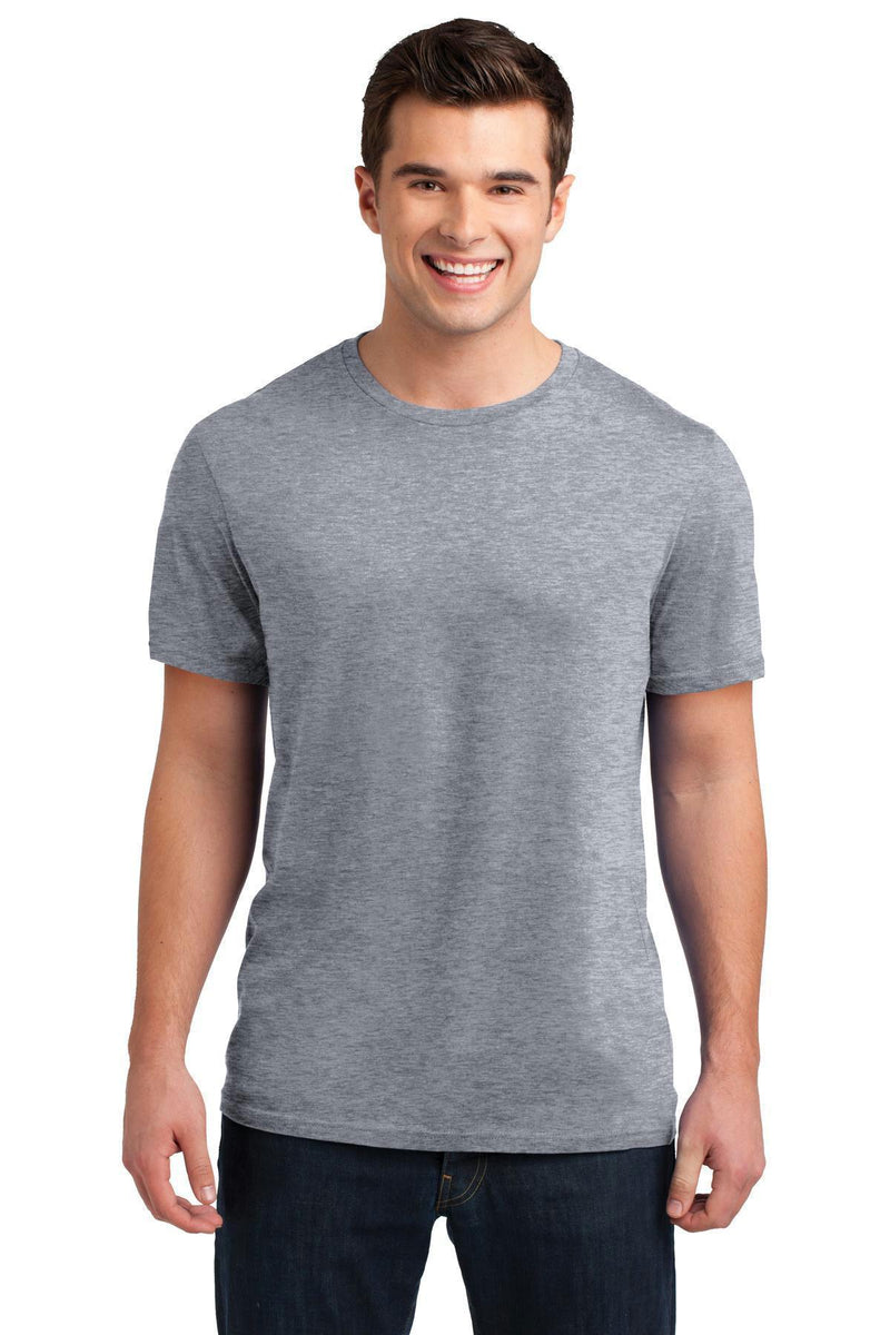 District Young Men's Soft Wash Crew Tee. DT4000-T-shirts-Heather Grey-3XL-JadeMoghul Inc.