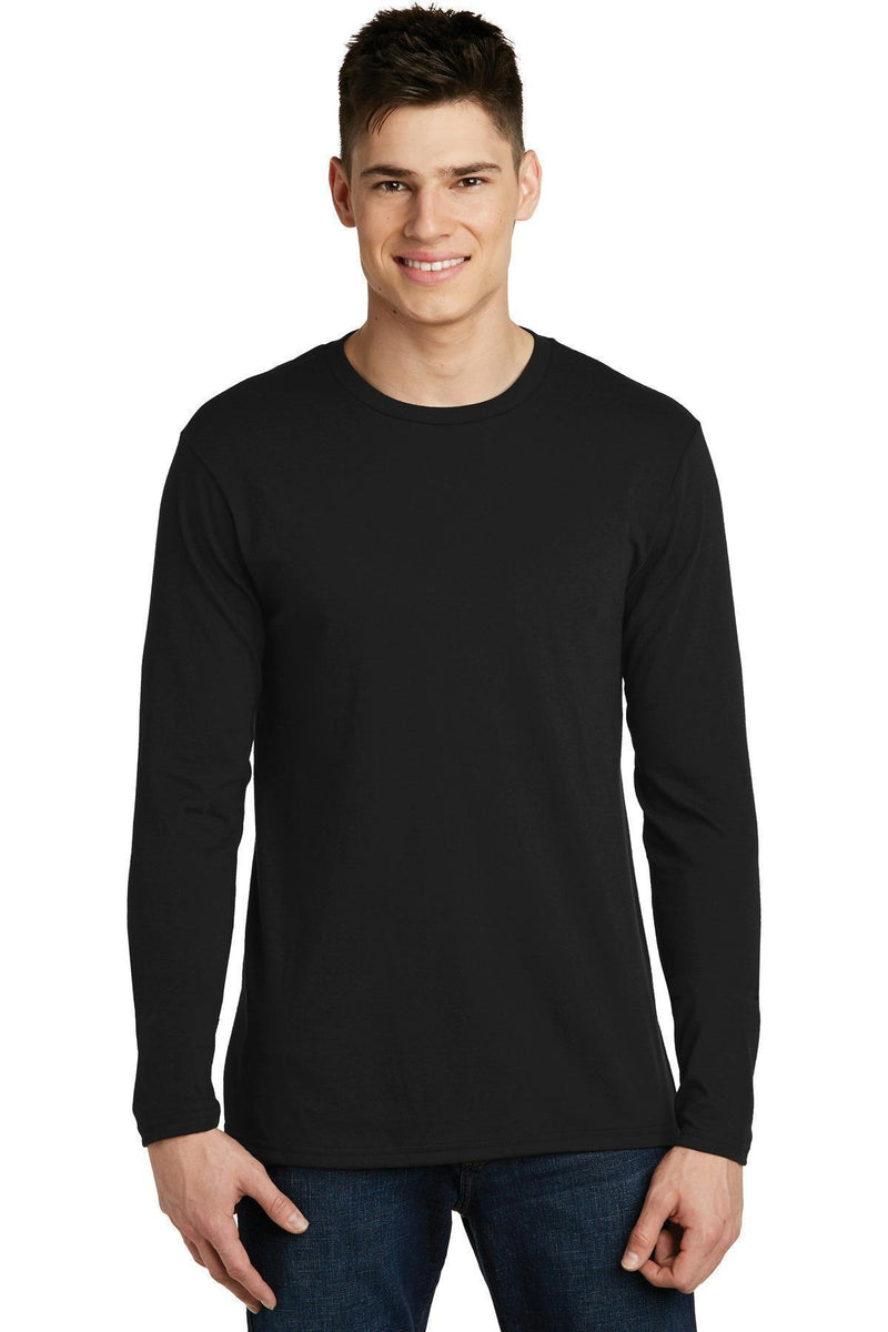 District Young Men's Very Important Tee Long Sleeve. DT6200-T-shirts-Black-XS-JadeMoghul Inc.