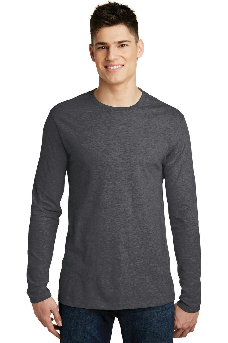 District Young Men's Very Important Tee Long Sleeve. DT6200-T-shirts-Heathered Charcoal-XS-JadeMoghul Inc.
