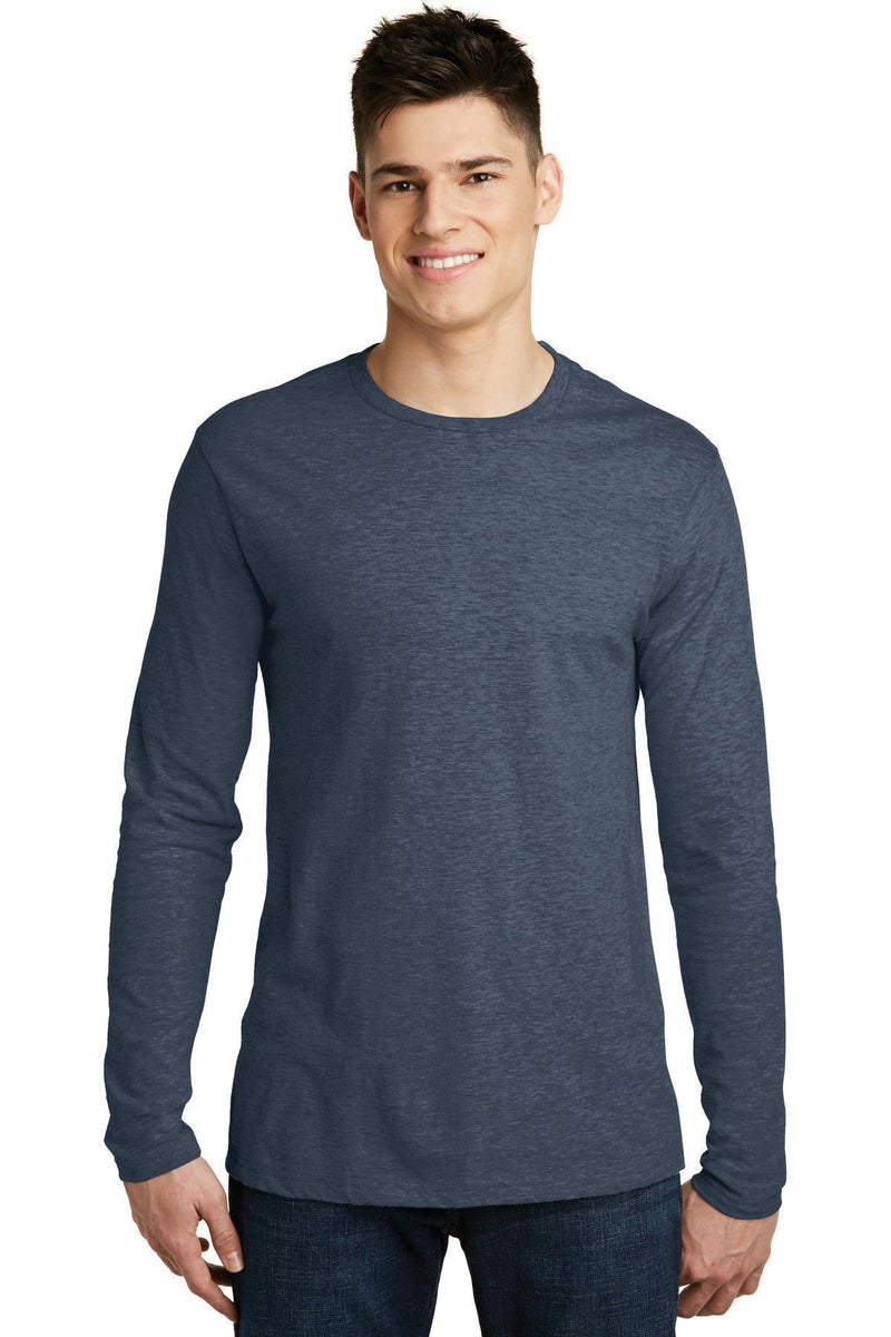 District Young Men's Very Important Tee Long Sleeve. DT6200-T-shirts-Heathered Navy-S-JadeMoghul Inc.