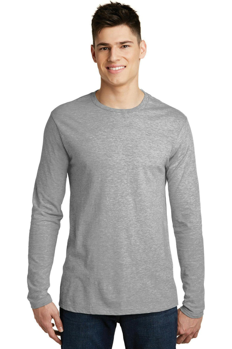 District Young Men's Very Important Tee Long Sleeve. DT6200-T-shirts-Light Heathered Grey-S-JadeMoghul Inc.