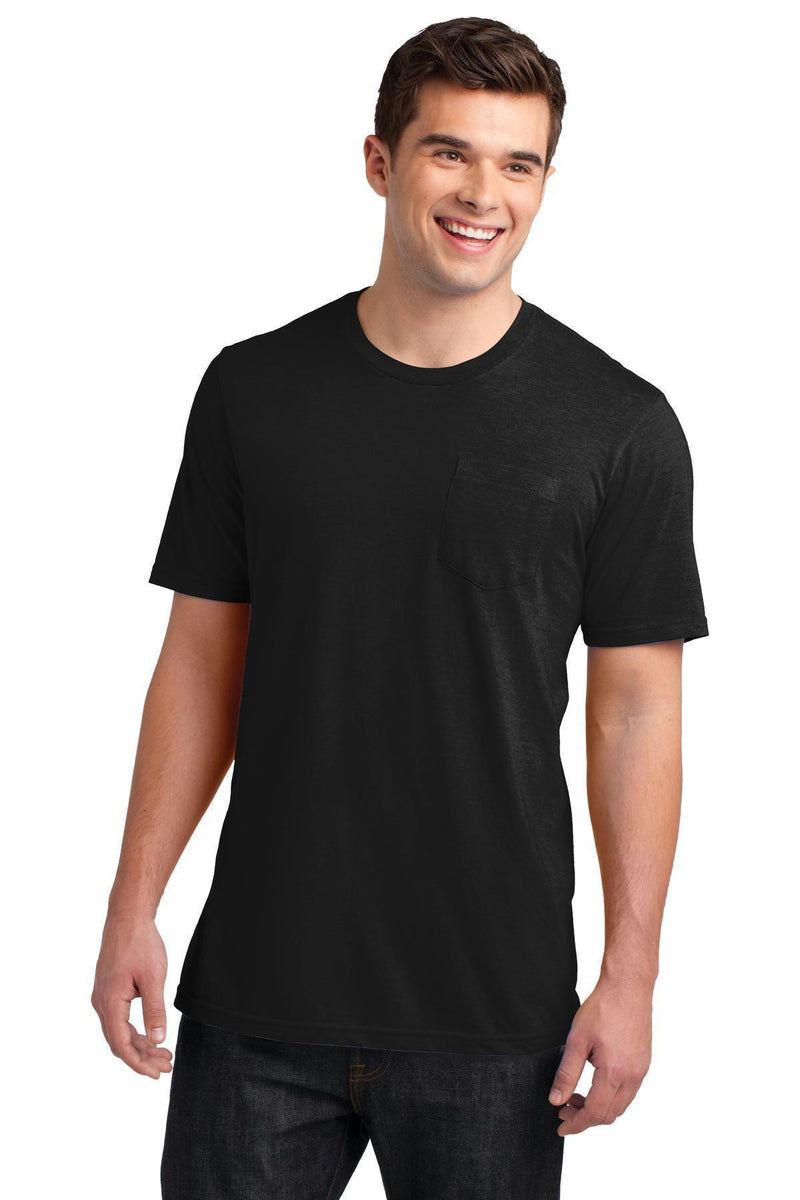 District Young Men's Very Important Tee with Pocket DT6000P-T-shirts-Black-4XL-JadeMoghul Inc.