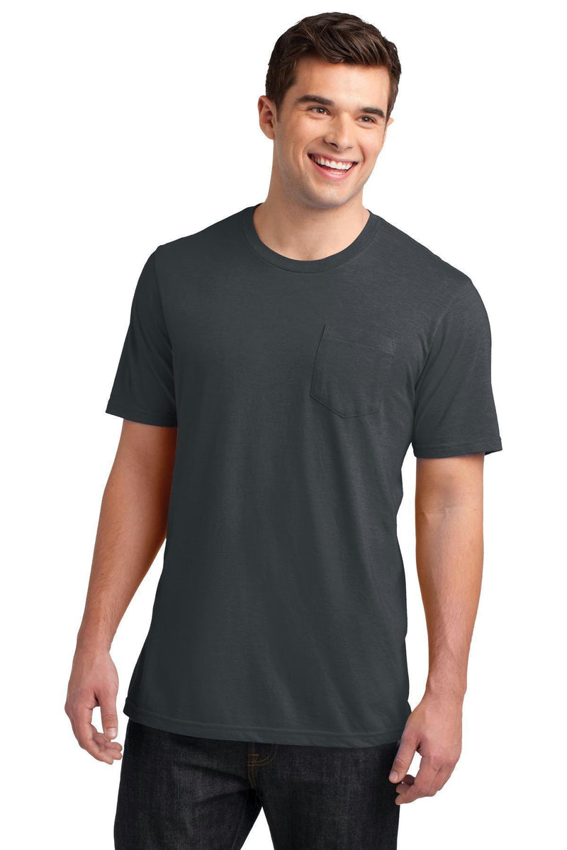 District Young Men's Very Important Tee with Pocket DT6000P-T-shirts-Charcoal-4XL-JadeMoghul Inc.